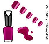 pink color nail polish  brush ... | Shutterstock . vector #583582765
