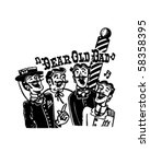 barbershop quartet   retro clip ... | Shutterstock .eps vector #58358395
