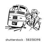 Travel By Train   Retro Clip Art