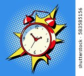 alarm clock ring comic book pop ... | Shutterstock . vector #583585156