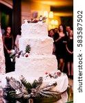 beautiful stylish tasty wedding ... | Shutterstock . vector #583587502