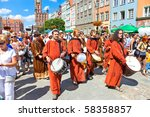 GDANSK, POLAND - JULY 31: The ceremonial opening of the Fair St. Dominic. Fair tradition dates back 750 years and from 1260 he has been held in Gdansk, July 31, 2010 in Gdansk. - stock photo