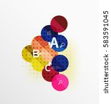 round modern circle option... | Shutterstock .eps vector #583591045