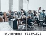 business team at work.  group... | Shutterstock . vector #583591828