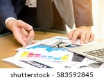 businessman in the office of... | Shutterstock . vector #583592845
