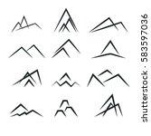 abstract vector design mountain ... | Shutterstock .eps vector #583597036