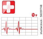 vector illustration of a heart... | Shutterstock .eps vector #58359748