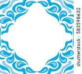 beautiful water background of... | Shutterstock .eps vector #583598632