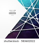 abstract geometric background... | Shutterstock .eps vector #583602022
