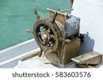 old weather beaten wooden...   Shutterstock . vector #583603576