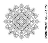 floral mandala  vector... | Shutterstock .eps vector #583615792