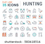 set vector line icons  sign and ... | Shutterstock .eps vector #583618516