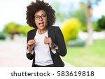 surprised business black woman | Shutterstock . vector #583619818