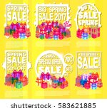 big spring sale poster vector... | Shutterstock .eps vector #583621885