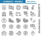 currency   rouble icons.... | Shutterstock .eps vector #583624975