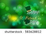 vector illustration of happy st.... | Shutterstock .eps vector #583628812
