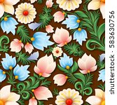 abstract spring seamless floral ... | Shutterstock .eps vector #583630756