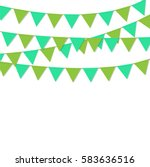 bunting flags green color...   Shutterstock .eps vector #583636516