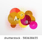 vector circle bubbles modern... | Shutterstock .eps vector #583638655