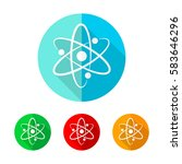 set of colored atom icons.... | Shutterstock .eps vector #583646296