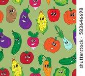 vector funny vegetables...   Shutterstock .eps vector #583646698