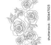 pattern of flowers | Shutterstock .eps vector #583647025