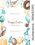 vector card or invitation... | Shutterstock .eps vector #583652392