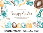 vector card or invitation... | Shutterstock .eps vector #583652452