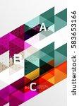 vector minimalistic triangle...   Shutterstock .eps vector #583653166