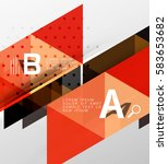 vector triangle banner ... | Shutterstock .eps vector #583653682