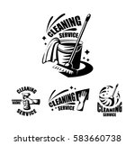 cleaning service logotypes with ... | Shutterstock .eps vector #583660738