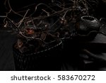 tree branches with a dark decor ... | Shutterstock . vector #583670272