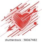 heart with arrow   Shutterstock .eps vector #58367482