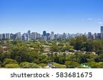 view of houses and buildings... | Shutterstock . vector #583681675