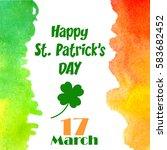 happy st. patrick's day... | Shutterstock .eps vector #583682452