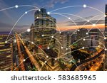 bangkok city and connection... | Shutterstock . vector #583685965
