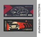 set of auto repair service...   Shutterstock .eps vector #583702846