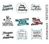 shopping label logotypes...   Shutterstock .eps vector #583703572