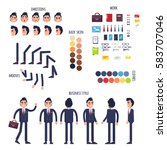 businessman character generator ...   Shutterstock .eps vector #583707046