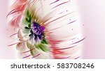 Exotic Flower. Sunny Wind. 3d...