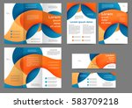 set of color abstract brochure... | Shutterstock .eps vector #583709218