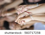 hand team work | Shutterstock . vector #583717258