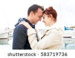 portrait of young couple in... | Shutterstock . vector #583719736