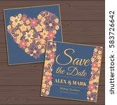 wedding invitation card suite... | Shutterstock .eps vector #583726642