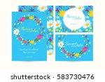 wedding invitation card suite... | Shutterstock .eps vector #583730476