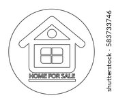 home for sale icon   Shutterstock .eps vector #583733746