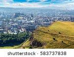 cityscape of edinburgh from... | Shutterstock . vector #583737838