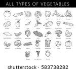 vegetables isolated set.... | Shutterstock .eps vector #583738282