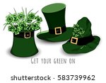 bundle of leprechaun's green... | Shutterstock .eps vector #583739962