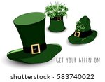 bundle of leprechaun's green... | Shutterstock .eps vector #583740022